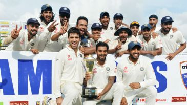 India winning their first Test series in Srilanka in 22 years